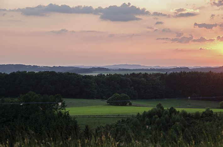 Überm Dorf_Sonnenuntergang 2